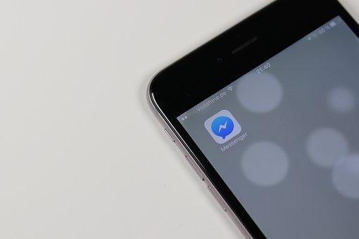 Messenger, App, Community, Media, Chat, Logo