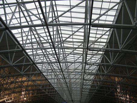 Hall, Airport, Metal, Architecture, Modern, Roof
