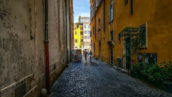 Rome, Italy, Roman, Piazza, Navona, Alley, Street, Walk