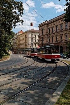 Tram, Architecture, Brno, Czech Republic In Moravia