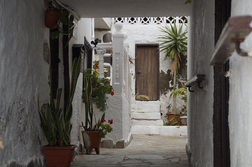Courtyard, Mediterranean, Holiday, Tenerife