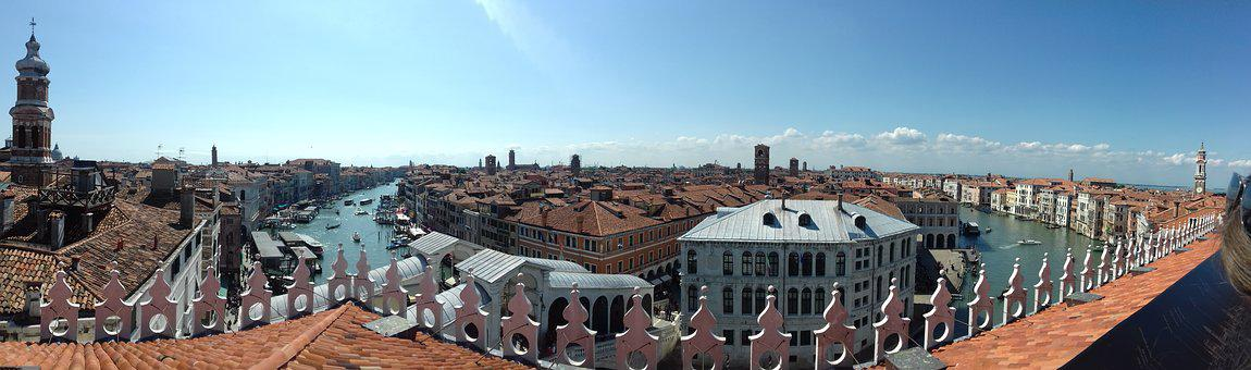 Venice, Panorama, Channel, Italy, Water, Holiday