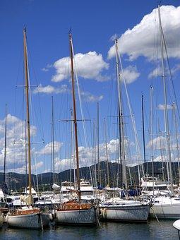 Holiday, Sailboats, Boat, Seascape, Port, France
