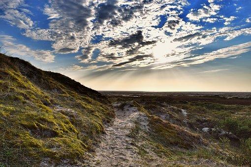 Borkum, Evening, Dunes, By The Sea, Holiday