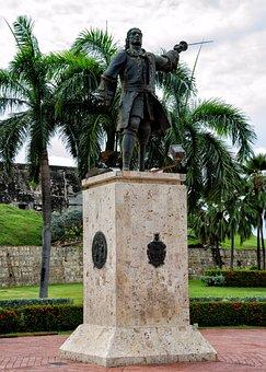 Colombia, Statue, Cartagena, Caribbean