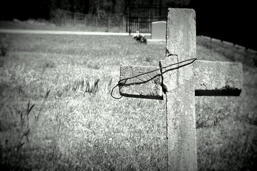 Cross, Creepy, Graveyard, Tombstone, Headstone
