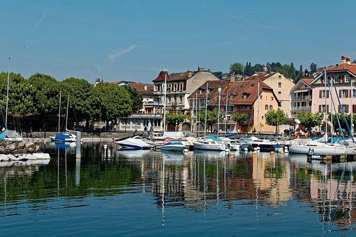 Port, Lutry, Vaud, Lausanne, Switzerland, Geneva, Lake