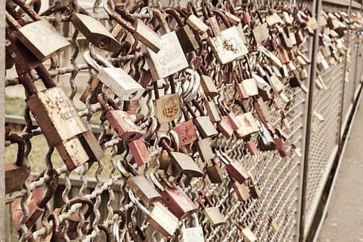 Castle, Love, Love Locks, Padlock, Bridge, Friendship