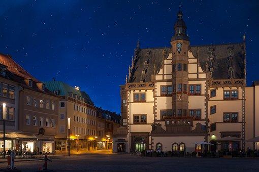 Schweinfurt, Swiss Francs, Town Hall, Night