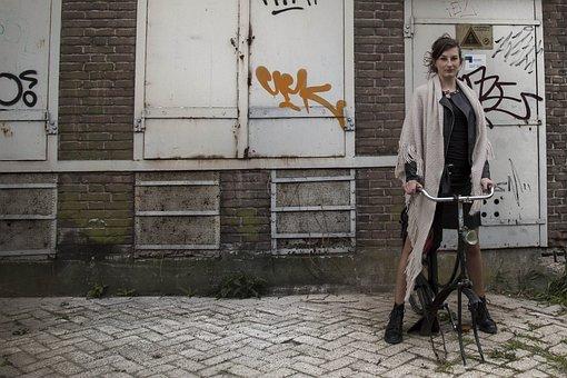 Graffiti, Girl, Woman, Outdoor, Work Of Art, Artistic