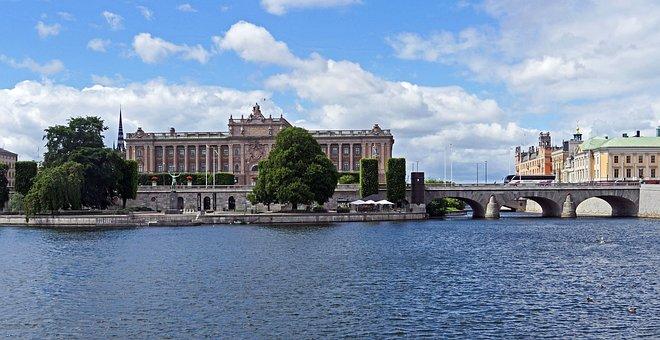 Stockholm, Parliament Island, Reichstag, Central