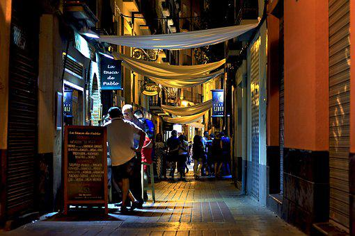 Night, Bars, City, Chairs, Cocktail, Saragossa, Urban