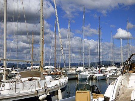 Holiday, Sea, Provence, Beach, Boat, Sand, Waves