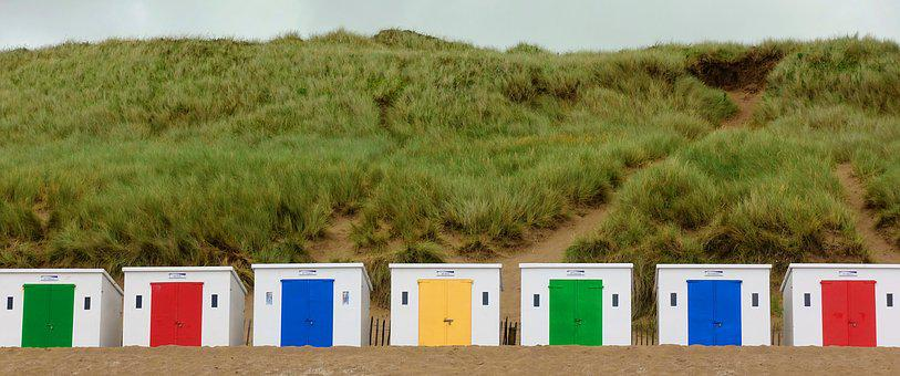 Beach, Hut, Seaside, Cabin, Bathing, Box, Shelter
