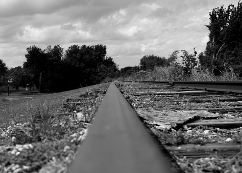 Railroad, Train, Train Tracks, Creepy, Dark, Lonely