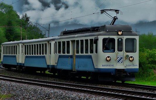 Train, Zugspitze Railway, Rail Traffic, Transport