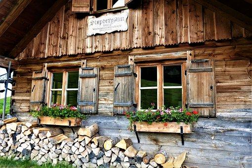 Alm, Mountain Hut, Step Pasture, Hut, Log Cabin