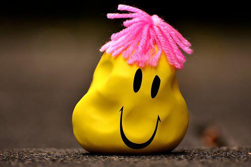 Anti-stress Ball, Smiley, Deformed, Misshapen