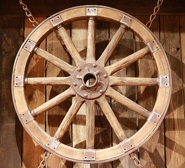 Wooden Wheel, Wheel, Old, Wooden Wheels, Wood, Antique