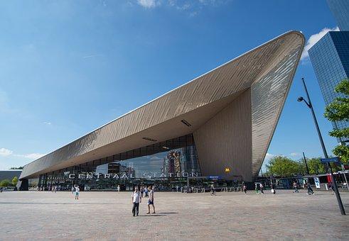 Rotterdam, Central, Station, New, Architecture, Urban