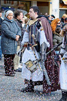 Carnival, Celebration, Road, Yverdon, Vaud, Switzerland