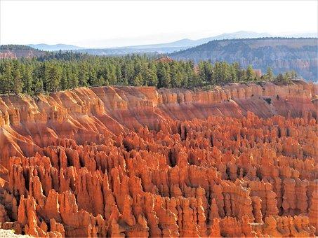 Bryce Canyon, Utah, Sunrise, Red Sandstone, Hiking