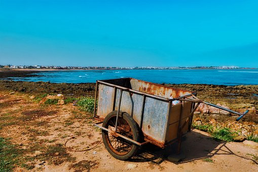 Hand Carts, Cart, Trailers, Casablanca, Rusted, Old