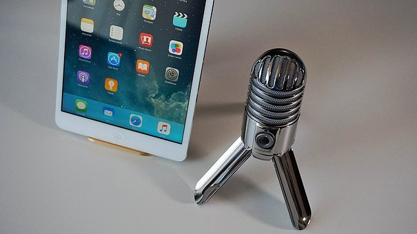 Microphone, Tablet, Podcast, Condenser Microphone