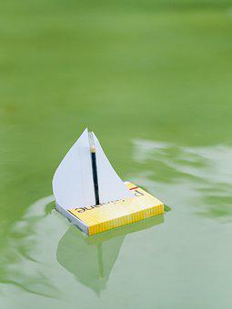 Paper, Boot, Fold, Ship, Papierschiff, Origami, Water