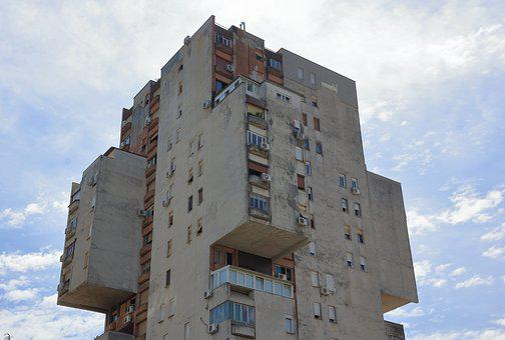 Montenegro, Podgorica, Housing, Building, Tower