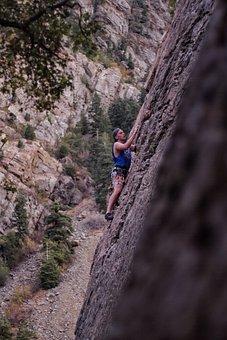 Climbing, Utah, Nature, Determined