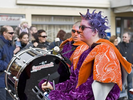 Music, Carnival, Celebration, Road, Yverdon, Vaud