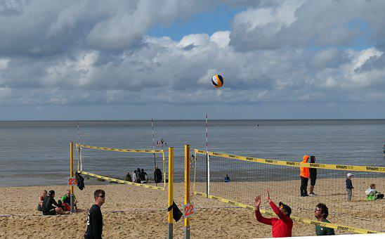 Volleyball, Beach Volleyball, Beach, Fun, Sand, Sea