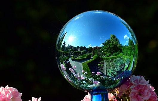 Garden Globe, Mirroring, Garden, Ball, About, Summer