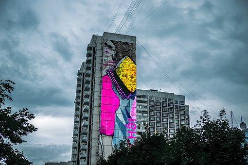 Graffiti, Moscow, Artist, Culture, Graffiti Wall