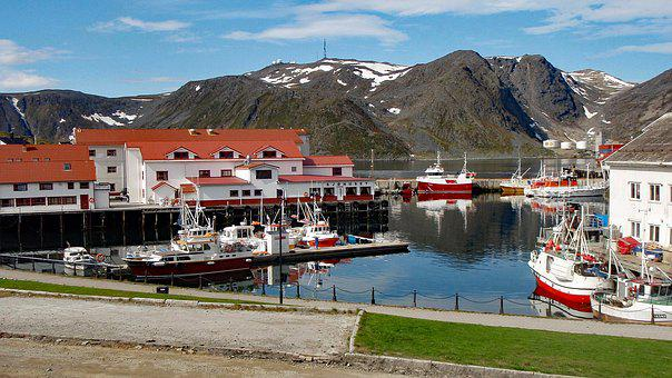 Honningsvag, Norway, Scandinavia, Port, Summer, Arctic