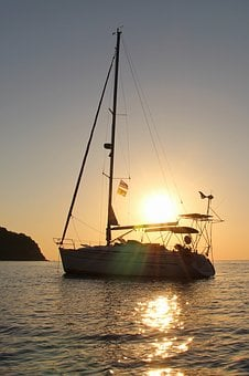 Nature, Sea, Sailing, Yacht, Sun, Sunset, Water