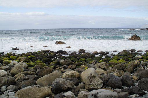 Stones, Bank, Shore Stones, Rock, Rocky, Surf, Bemoost