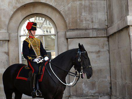 London, Guard, Horse, Military, Uniform, Great Britain