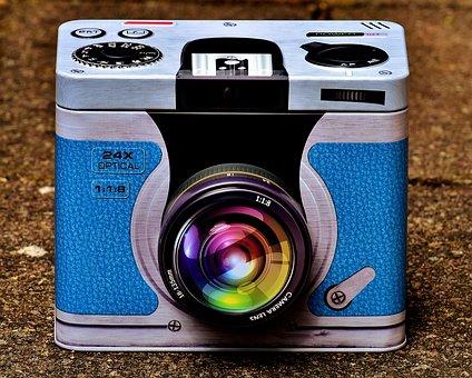Tin Can, Camera, Storage, Box, Rifle, Vessel