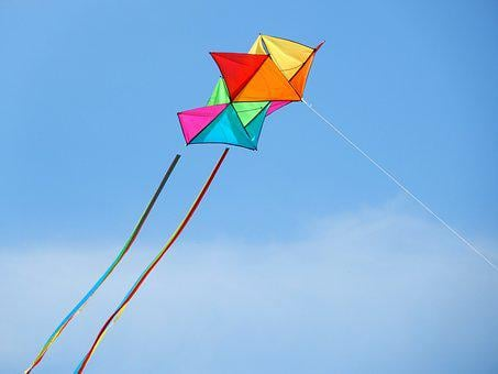 Dragons, Kite Flying, Fly, Sky, Blue, Wind, Colorful