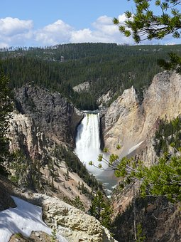Fall, Waterfall, Yellowstone Park, Upper Falls