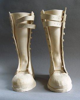 Boots, Ceramic, Sculpture