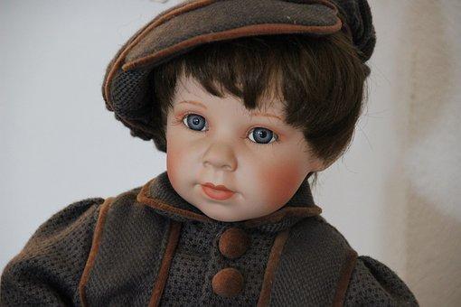 Doll, Blue Eye, Face, Toys, Historically, Boy, Child
