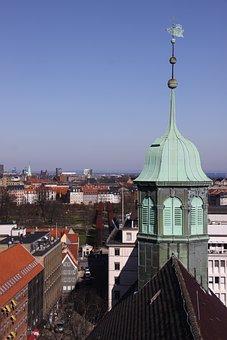 Green, Tower, Copper, Cityscape, Blue, Cloud
