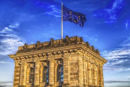 Bundestag, Europe, Flag, Germany, Parliament, Flutter
