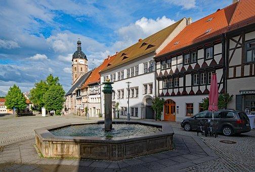 Marketplace, Sangerhausen, Saxony-anhalt, Germany