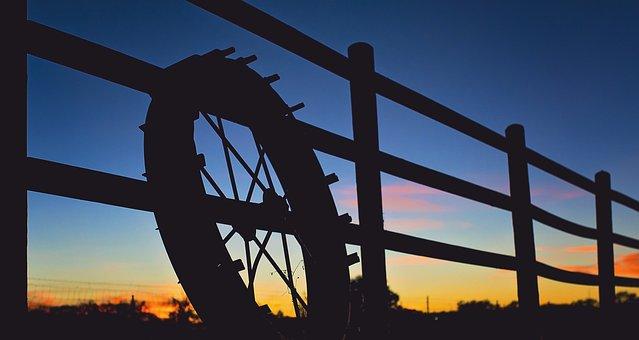 Farm, Sunset, Fence, Nature, Field, Landscape, Summer