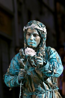 Live Statues, Sintra, Portugal