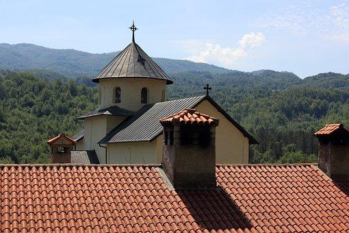 Croatia, Monastery, Roof, Chimney, Tile, Tiled, Church